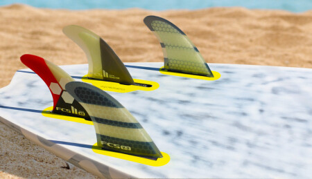 FCS windsurfing adaptor full surf fin setup